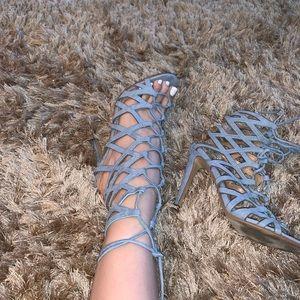 ALDO Blue Tie Up Heels